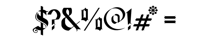 Old Wise Lord Font OTHER CHARS