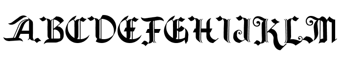 Old Wise Lord Font UPPERCASE