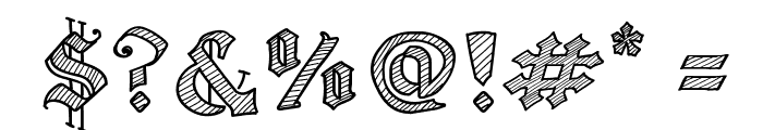 Old Wise Sketch Font OTHER CHARS