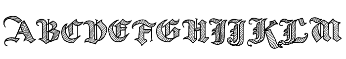 Old Wise Sketch Font UPPERCASE