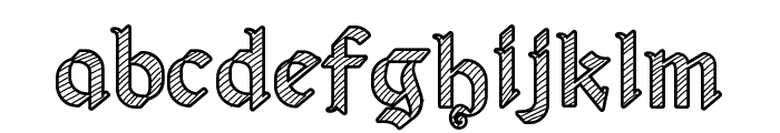 Old Wise Sketch Font LOWERCASE