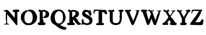 Old news Font UPPERCASE