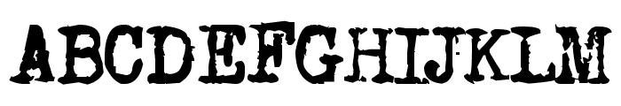 Old typewriter Font UPPERCASE
