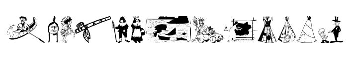 OldAmericanSymbols Font UPPERCASE