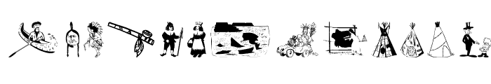 OldAmericanSymbols Font LOWERCASE