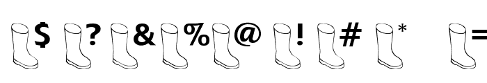 OldBoot Font OTHER CHARS