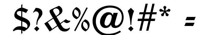 OldEnglishFiveOpti Font OTHER CHARS