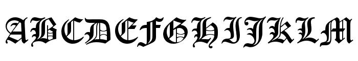 OldEnglishFiveOpti Font UPPERCASE