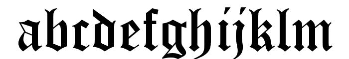 OldEnglishFiveOpti Font LOWERCASE