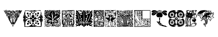OldFloralIllustration Font LOWERCASE