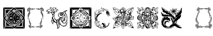 OldFramesSymbols Font OTHER CHARS