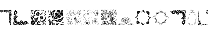 OldFramesSymbols Font UPPERCASE