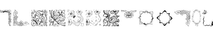 OldFramesSymbols Font LOWERCASE