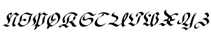 OldGerman-Itali Font UPPERCASE