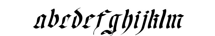 OldGerman-Itali Font LOWERCASE