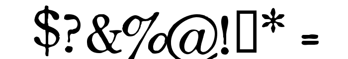 OldStyle 1 HPLHS Font OTHER CHARS