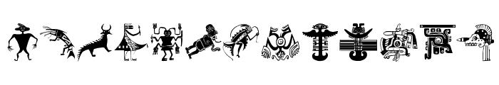OldTribalSymbols Font UPPERCASE