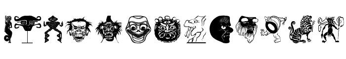 OldTribalSymbols Font LOWERCASE