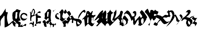 OldTypographicSymphony Round Font LOWERCASE