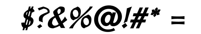 OldaniaADFStd-BoldItalic Font OTHER CHARS