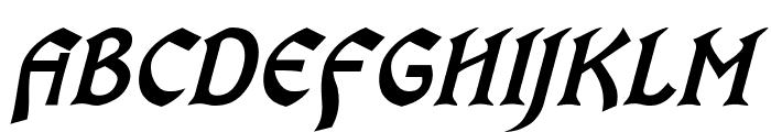 OldaniaADFStd-BoldItalic Font UPPERCASE