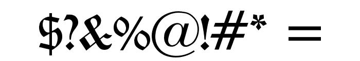 Oldchristmas Regular Font OTHER CHARS