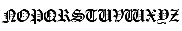 Oldchristmas Regular Font UPPERCASE