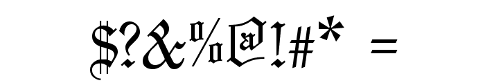 Olde English Regular Font OTHER CHARS