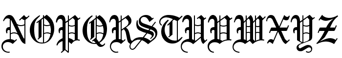 Olde English Regular Font UPPERCASE