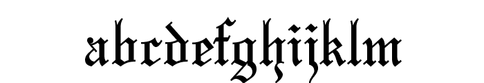 Olde English Regular Font LOWERCASE