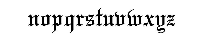 Olde English Regular Font LOWERCASE