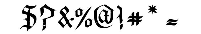 OldeCriltRegular Font OTHER CHARS