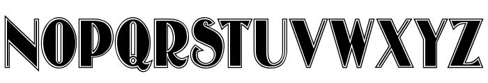 OldgateLaneOutline Font UPPERCASE