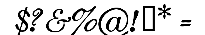 Oldstyle Italic HPLHS Font OTHER CHARS