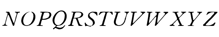 OldstyleHPLHS-Italic Font UPPERCASE