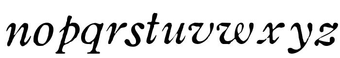 OldstyleHPLHS-Italic Font LOWERCASE