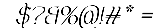Olimpia Italic Font OTHER CHARS
