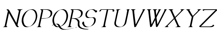 Olimpia Italic Font UPPERCASE