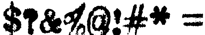 Oliver Printype Font OTHER CHARS