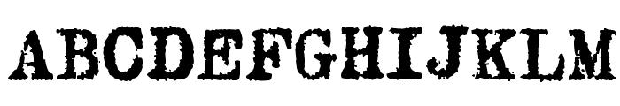 Oliver Printype Font UPPERCASE