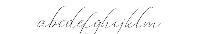 Oliverra Font LOWERCASE