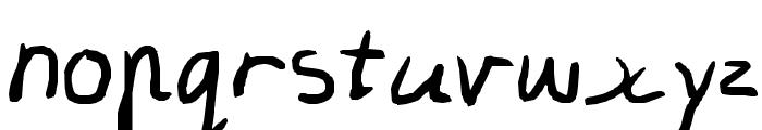 Olivia's Writing Font LOWERCASE