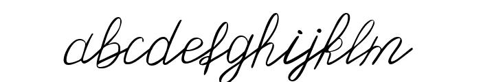 Olster Font LOWERCASE