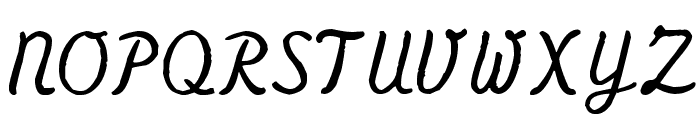 Olympia Script Font UPPERCASE