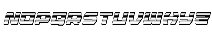 Olympic Carrier Chrome Italic Font LOWERCASE