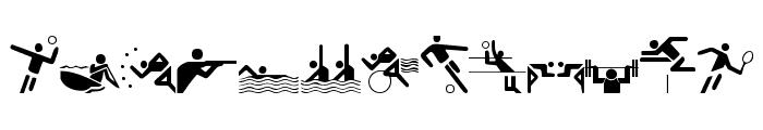 Olympicons Regular Font UPPERCASE