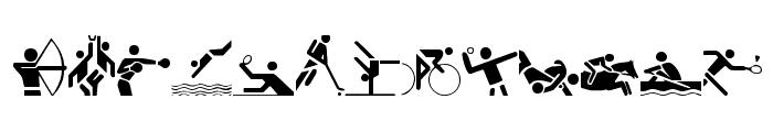 Olympicons Regular Font LOWERCASE