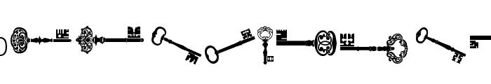 old retro keys tfb Font UPPERCASE