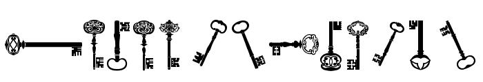 old retro keys tfb Font LOWERCASE