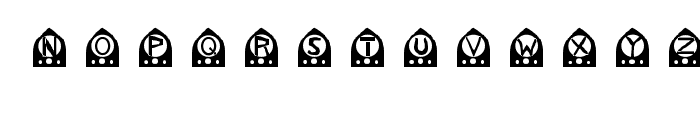 old time radio Font LOWERCASE